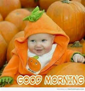 Cute Good Morning with Baby