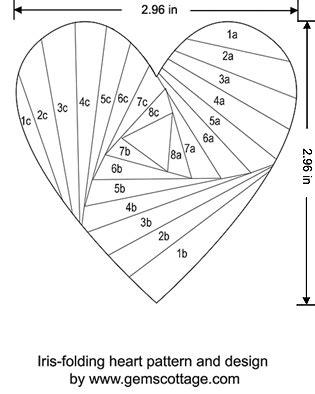 iris folding templates card with iris folding