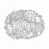 Coloring Kenya Libro Illustrazione Adult Childrens Colorare Drawn Concept Vettore Colorear Pesci Subacqueo Oceano Operatore Molti Immagine Ilustracion Pop Jeep sketch template