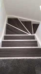 vinyl flooring for stairs allure locking gen 3 aspen oak black with silver fluted stair nosing allure locking gen 3