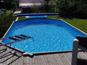 Pool Mit Holz : teilversenkter holz swimmingpool fotogalerie swimmingpool holzpool pool im garten ~ Orissabook.com Haus und Dekorationen