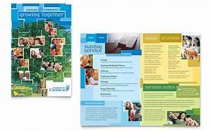 community church brochure template design With church brochures templates