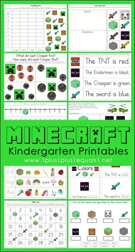 Free Minecraft Kindergarten Worksheets  Free Homeschool Deals