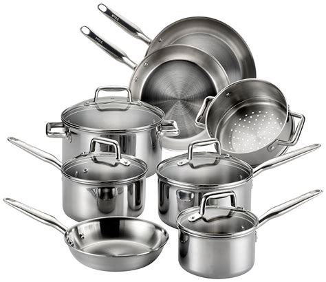 pans pots glass stove cookware stainless steel fal stoves safe cooktops oven dishwasher handles exterior lids clad
