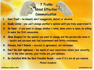 7 Truths About Effective Communication by Michael ...