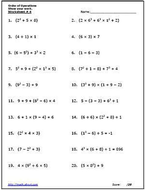 27 printable exponents worksheets 6th grade
