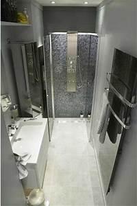seche serviette soufflant dans salle de bain italienne With porte de douche coulissante avec seche serviette electrique petite salle de bain
