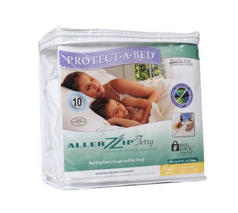 protect a bed allerzip waterproof terry mattress
