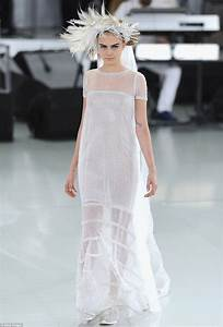 cara delevingne is ethereal in wedding dress at chanel With chanel wedding dress