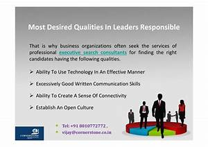 PPT - Most Desired Qualities In Leaders Responsible For ...