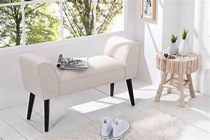 Sitzbank 90 Cm : stilvolle sitzbank scarlett gepolstert creme mit armlehnen und massivholz beinen 90 cm riess ~ Whattoseeinmadrid.com Haus und Dekorationen