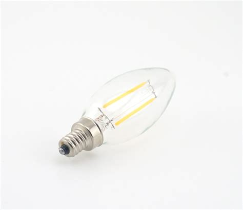 dimmable 2w 4w led e14 filament bulb candelabra light 220v