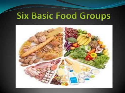 basics of cuisine six basic food groups