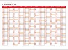Calendrier 2019 à imprimer gratuit 2019 2018 Calendar