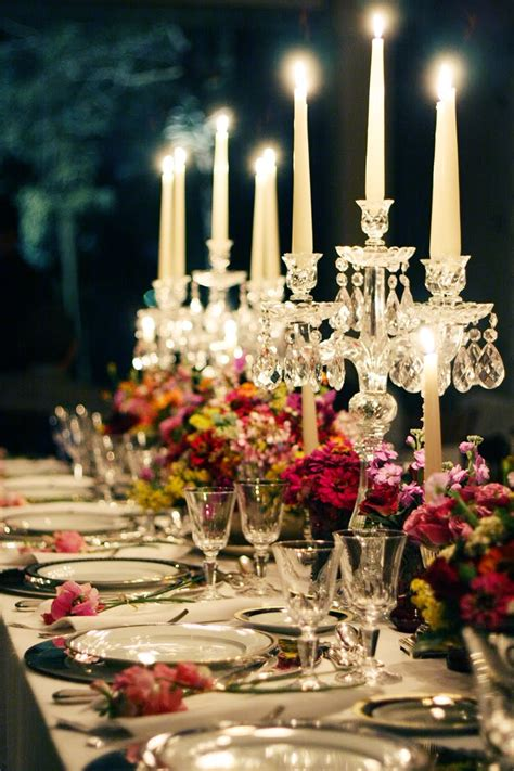 wedding table decorations  candles