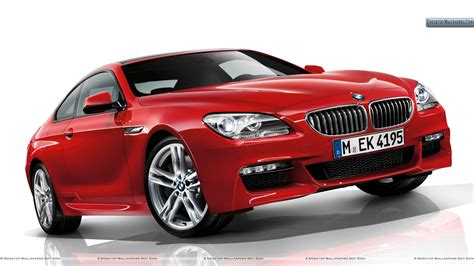red bmw bmw f12 side front pose in red wallpaper