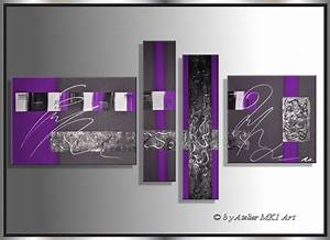 Bilder Auf Leinwand Kaufen : mk1 art bild leinwand abstrakt gem lde kunst malerei modern bilder acryl lila ebay ~ Markanthonyermac.com Haus und Dekorationen