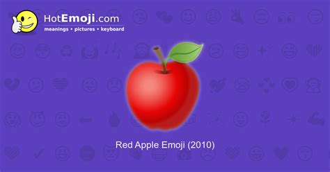 Red Apple Emoji Meaning with Pictures: from A to Z