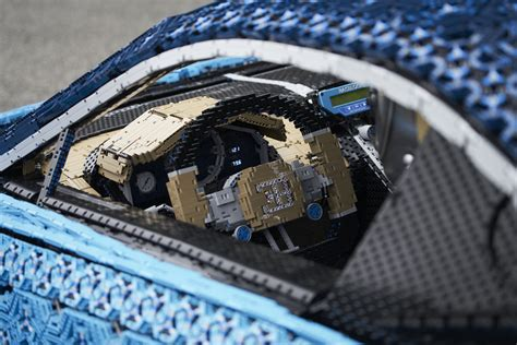 lego built  life size bugatti chiron