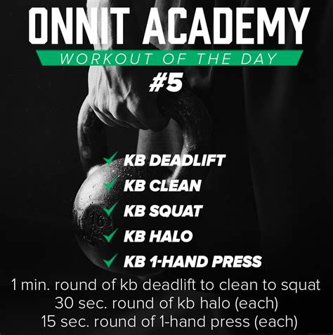 onnit kettlebell academy workout wod workouts clean training weight halo rounds
