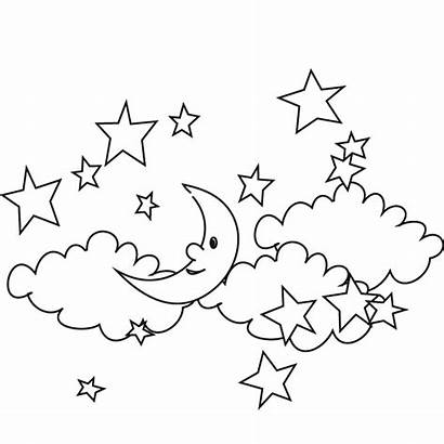 Coloring Night Pages Printable Stars