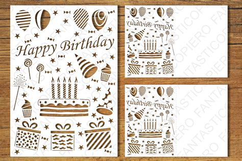 Silhouette cameo or cricut (or a craft knife and patience) my free christmas card cut files (click to here to download the svg, png, studio, and dxf files in a zip file. Happy Birthday 5 card SVG files for Silhouette and Cricut.