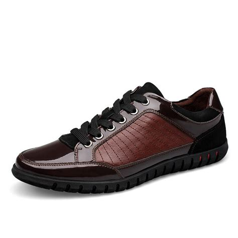British High Quality Men Casual Shoes Solid Famous