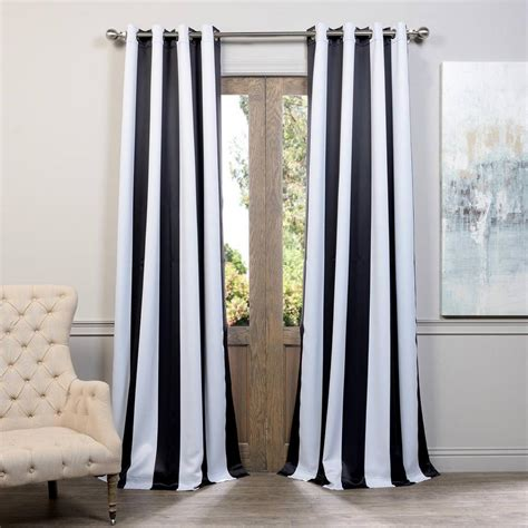 Black And White Striped Curtains 96 by Exclusive Fabrics Furnishings Awning Black And White