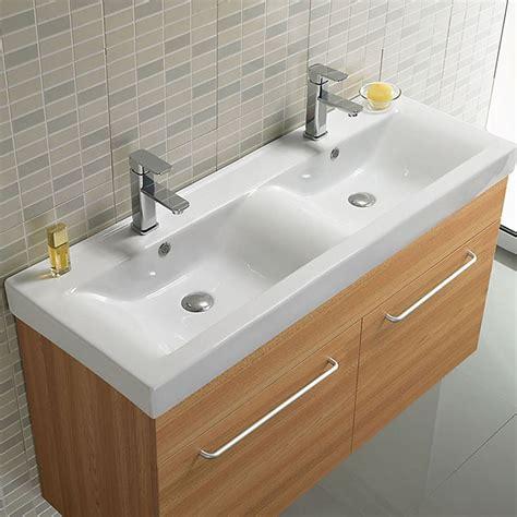 lavabo vasque c 233 ramique 120x46 cm essentiel rue du bain
