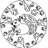 eichhoernchen mandalas ausmalbilder fuer kinder ausmalbilder pinterest mandala