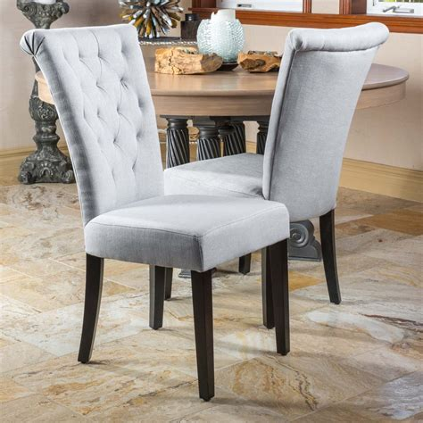 paulina light grey fabric dining chairs set   gdf