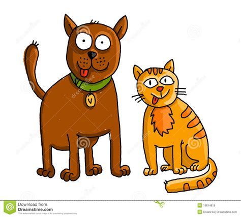 Funny Dog and Cat Clip Art