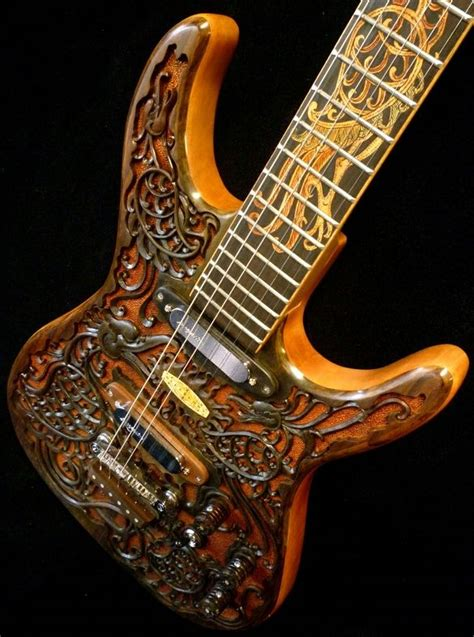 blueberry quot hawk quot carved electric guitar its a busy but its i guess carved