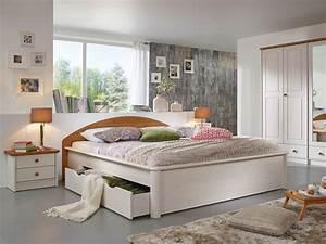 Bett Mit Schubladen Weiß : doppelbett wei lackiert ~ Bigdaddyawards.com Haus und Dekorationen
