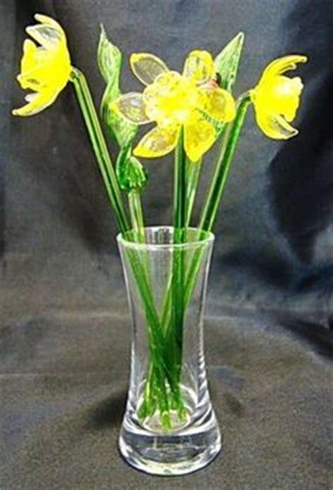 blown glass flowers  long stems glass flowers