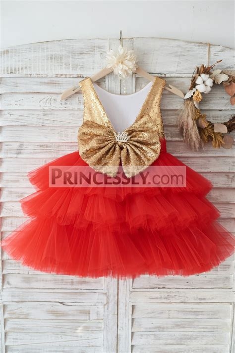 gold sequin red cupcake tulle deep   wedding flower