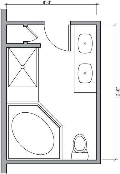 Master Bathroom Floor Plans   Bathroom Floor Plans