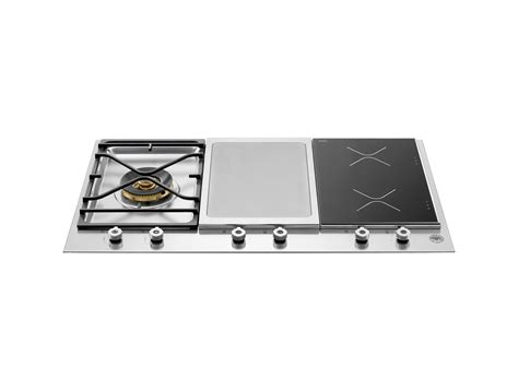 segmented cooktop burner induction zones griddle bertazzoni