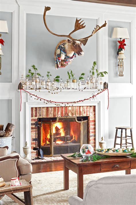 Photos Of Fireplace Mantels Decorated For Christmas Www