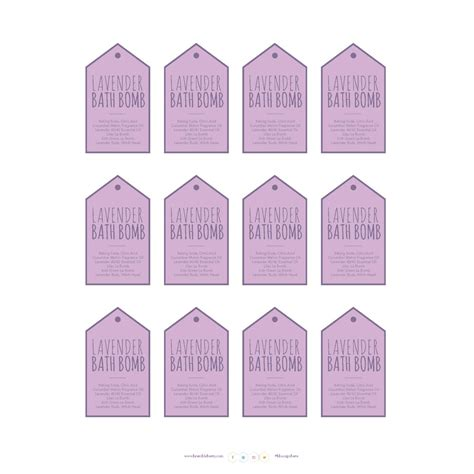 Free Downloadable Labels Template by Home Spa Label Template Downloadable Pdf