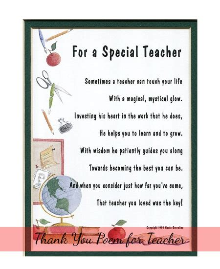 appreciation gifts 10 gift ideas for teachers 720 | A Thank you Gift Present Poem For A Special Teacher