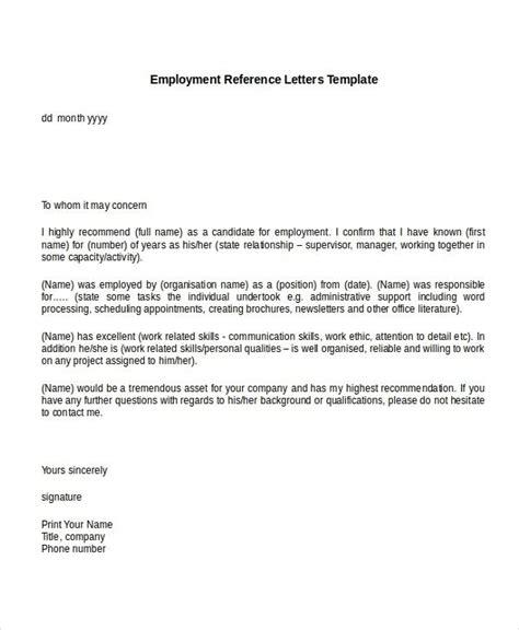 sample recommendation letter  job  employer