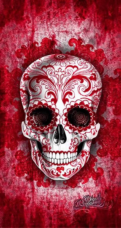 Skull Sugar Skulls Cherry Mexican Iphone Cherries