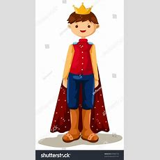 Illustration Isolated Cartoon Prince On White Stock Vector 63090718 Shutterstock