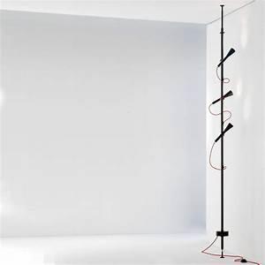 Lampadaire 3 Spots : lampadaire colibri led 3 spots orientables lampadaire noir c ble rouge martinelli luce ~ Teatrodelosmanantiales.com Idées de Décoration