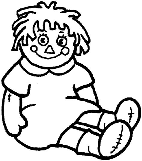 doll coloring page  kids  printable picture