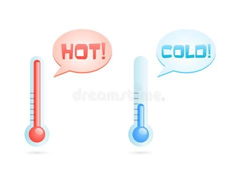 Hot And Cold Temperature Icons Stock Vector - Illustration ...