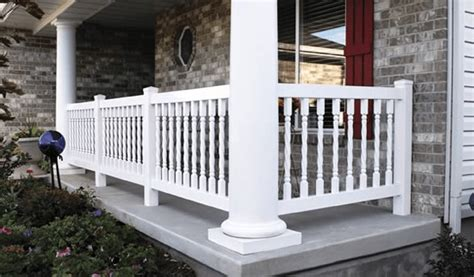 vinyl porch railing different types of porch railings