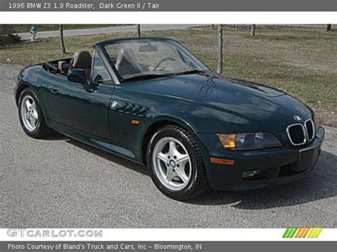 dark green bmw dark green ii 1996 bmw z3 1 9 roadster tan interior