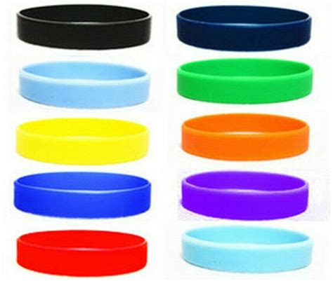 what color is silicon new 2pcs assorted solid colors silicone wristbands wrist